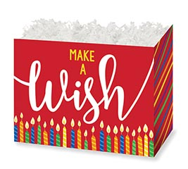 LARGE DIE CUT BOX MAKE A WISH CANDLES