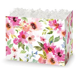LARGE DIE CUT BOX WATERCOLOR BOUQUET