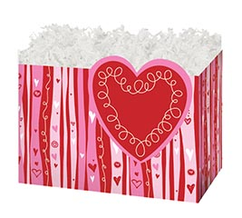 LARGE DIE CUT BOX WITH SWIRLY HEARTS