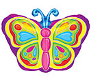 "18""PKG BRIGHT BUTTERFLY"