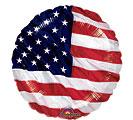 """9"""" INFLATED USA FLAG"""