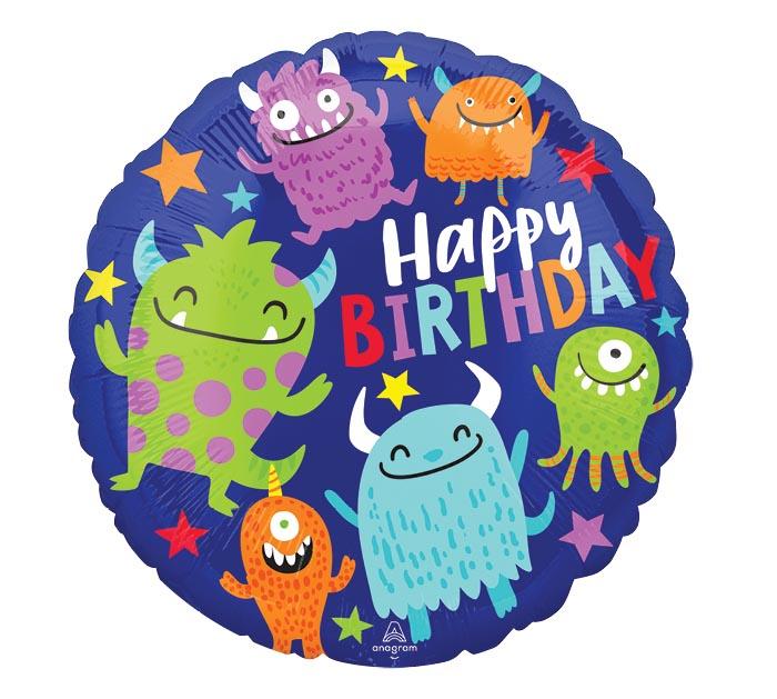 "17""PKG HAPPY LITTLE MONSTERS BIRTHDAY"
