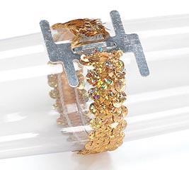 CORSAGE BRACELET GOLD SEQUIN