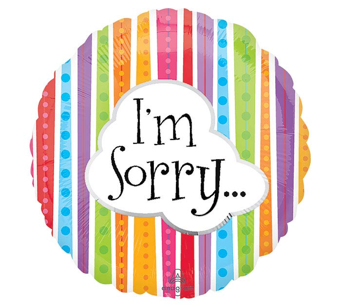 """18""""PKG I'M SORRY"""