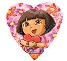 """18""""LUV DORA HEARTS"""