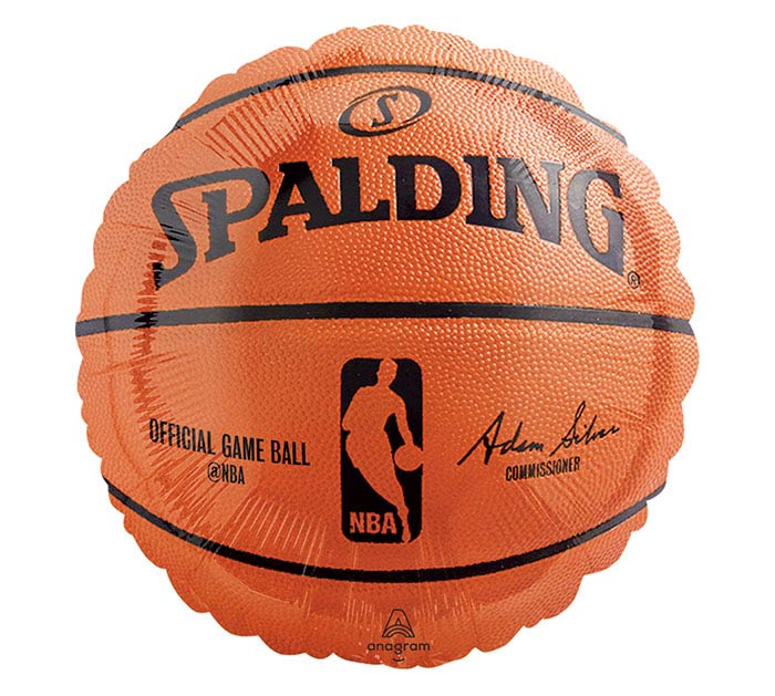 "17"" NBA SPALDING BASKETBALL SHAPE"