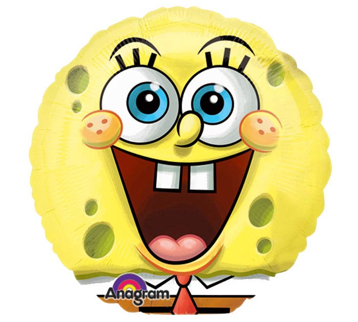 "9""INFLATED SPONGEBOB"