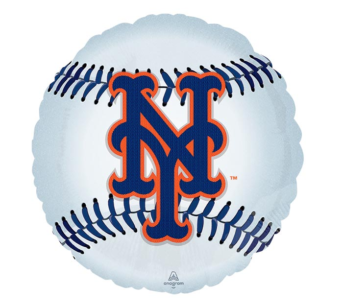 "18"" MLB NEW YORK METS BASEBALL SHAPE"
