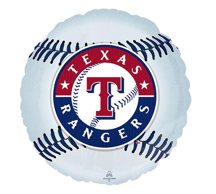 "18"" MLB TEXAS RANGERS BASEBALL SHAPE"