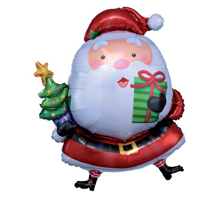 """37"""" PKG CHRISTMAS SANTA SHAPE"""