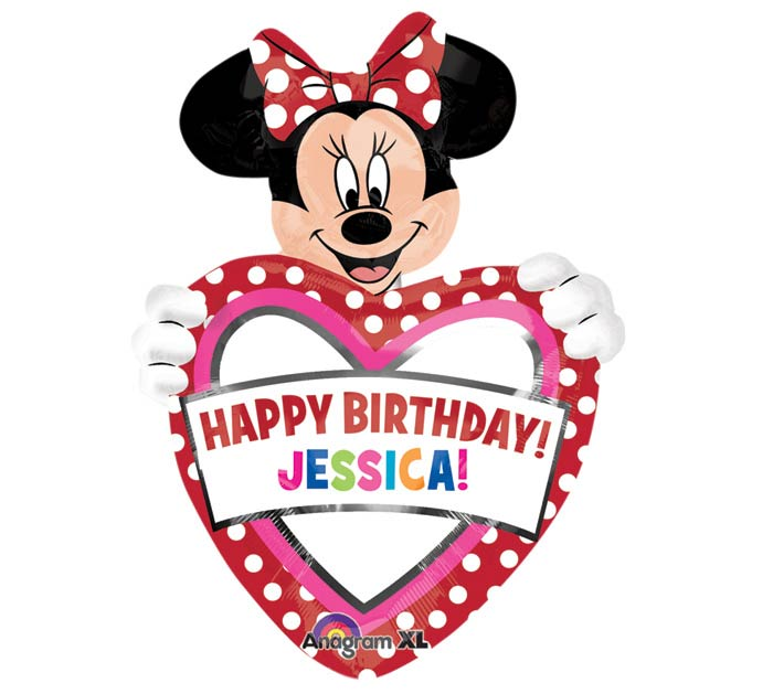"33""HBD MINNIE PERSON"