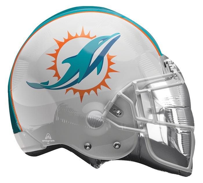 "21"" NFL MIAMI DOLPHINS HELMET SHAPE"