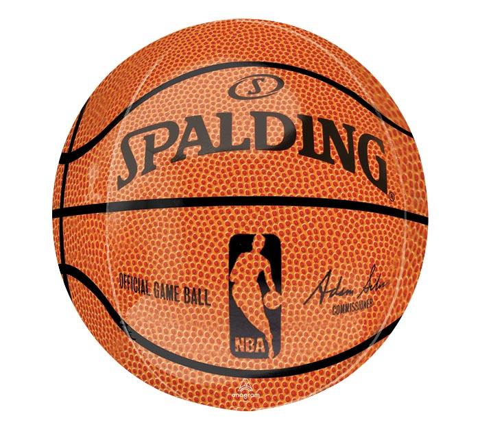 "16"" PKG ORBZ NBA SPALDING BASKETBALL"