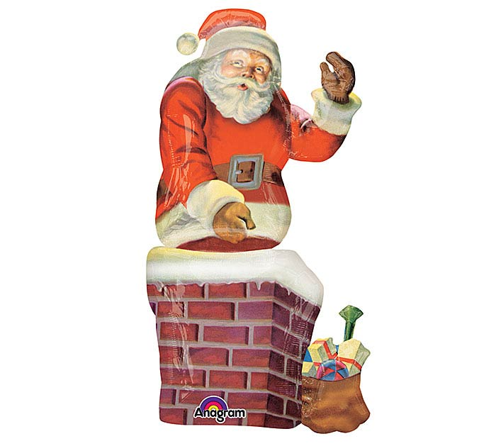 "53"" PKG SANTA IN CHIMNEY BALLOON"