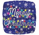 "17"" MERRY CHRISTMAS LIGHTS BALLOON"
