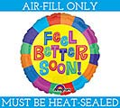 "4"" FLAT FEEL BETTER SOON MINI BALLOON"
