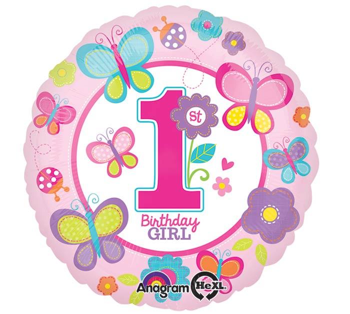 """17""""PKG HBD 1ST GIRL"""