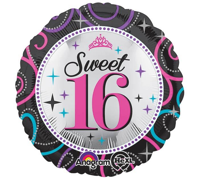 "17""PKG HBD SWEET 16"