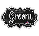 "27""PKG WEDDING GROOM CHALKBOARD MARQUEE"