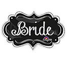"27""PKG WEDDING BRIDE CHALKBOARD MARQUEE"