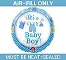 "4"" FLAT BABY BOY MINI BALLOON"