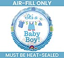 "9"" FLAT IT'S A BOY MINI BALLOON"