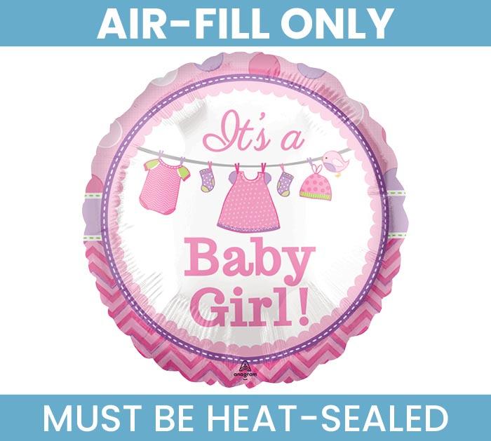 "4"" FLAT BABY GIRL MINI BALLOON"