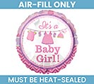 "9"" FLAT IT'S A BABY GIRL MINI BALLOON"