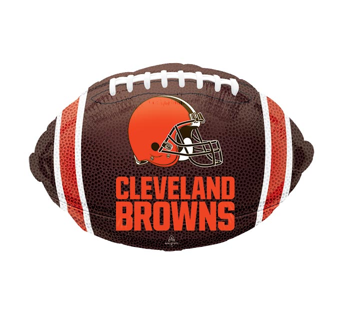 "17"" NFL CLEVELAND BROWNS FOOTBALL"