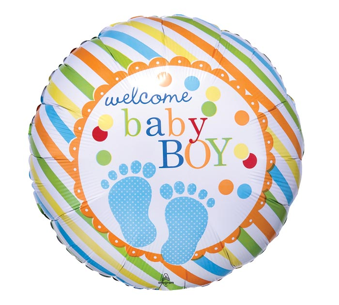 "17"" PKG WELCOME BABY BOY"