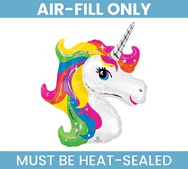"14""FLAT UNICORN MUST FILL WITH AIR ONLY"