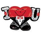 "33""PKG LUV I HEART U"