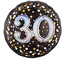 "32""PKG 30 MULTI BALLOON SPARKLING BDAY"