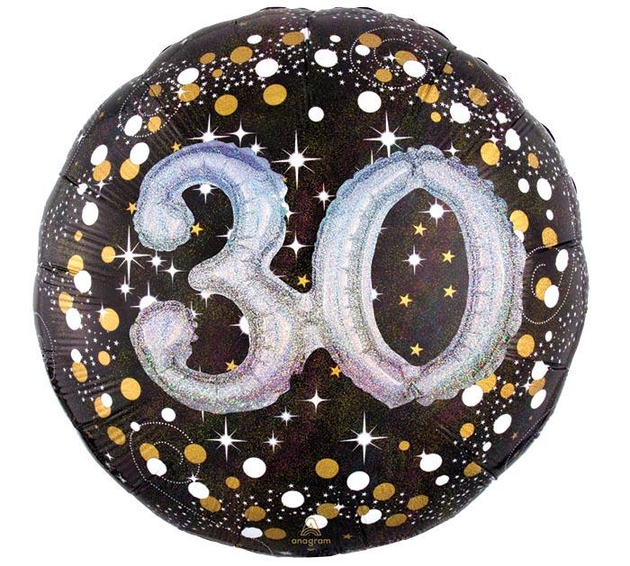 "32""PKG 30 MULTI BALLOON SPARKLING BDAY"
