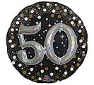 "32""PKG 50 MULTI BALLOON SPARKLING BDAY"