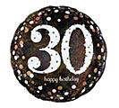 """18""""PKG HBD 30 SPARKLING BIRTHDAY"""