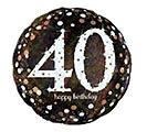 """18""""PKG HBD 40 SPARKLING BIRTHDAY"""