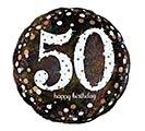 """18""""PKG HBD 50 SPARKLING BIRTHDAY"""