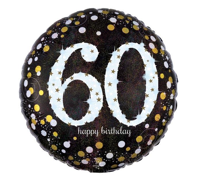 """18""""PKG HBD 60 SPARKLING BIRTHDAY"""
