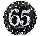 """18""""PKG HBD 65 SPARKLING BIRTHDAY"""