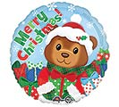 "17"" MERRY CHRISTMAS BEAR BALLOON"
