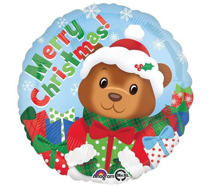 "17"" MERRY CHRISTMAS BEAR BALLOON"