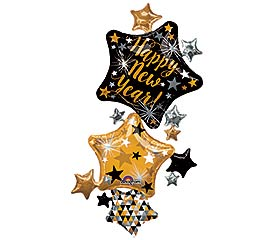 "67"" PKG HAPPY NEW YEAR STAR STACKER"