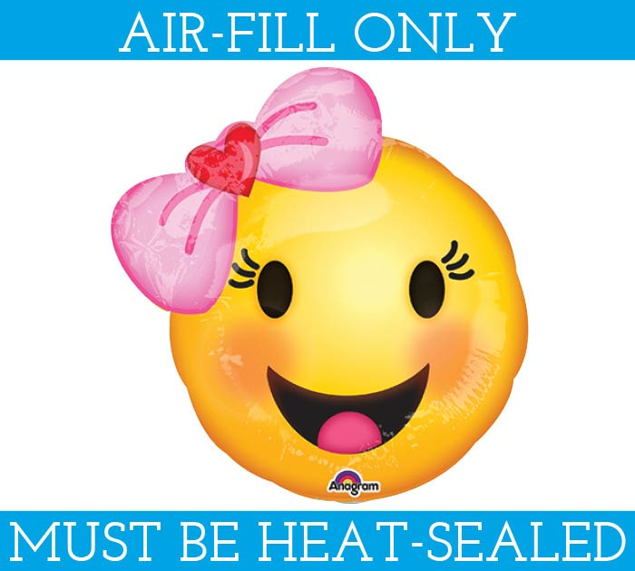 "10""FLAT GIRL EMOTICON MUST FILL WITH AIR"
