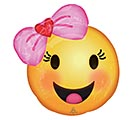 """18""""PKG BBY EMOTICONS WITH BOW"""