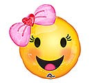 "10""INFLATED BBY EMOTICONS WITH BOW"