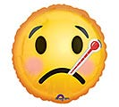 "9"" INFLATED GET WELL EMOTICON"