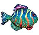 """33""""PKG COLORFUL FISH"""