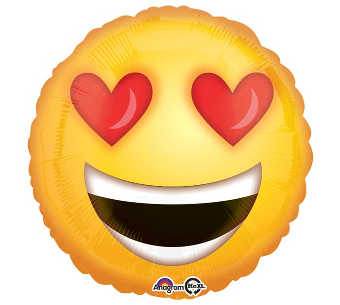 "17""PKG LOVE EMOTICONS"
