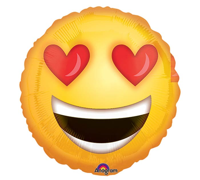 "9""INFLATED LOVE EMOTICON"